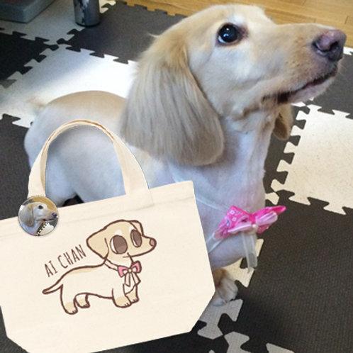 愛犬キャランチトートバック(缶バッチ付き)