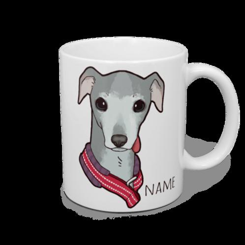 似顔絵愛犬マグカップ