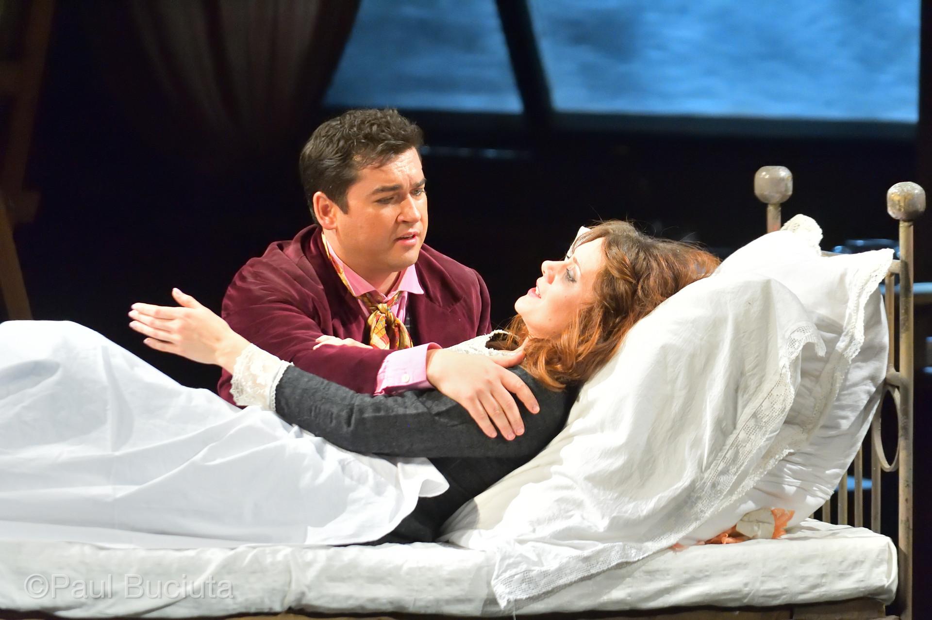 Mimi, Bucharest National Opera 2017, with Teodor Ilincai as Rodolfo