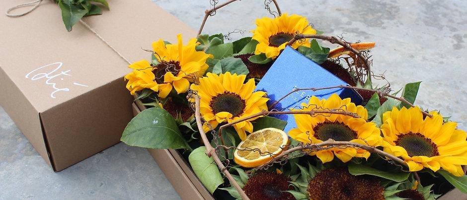 FLOWERS BAG BOX DADDY- Cuori di Girasoli