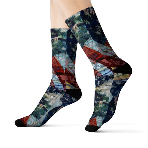 Wearable Collectible Art Sublimation Socks