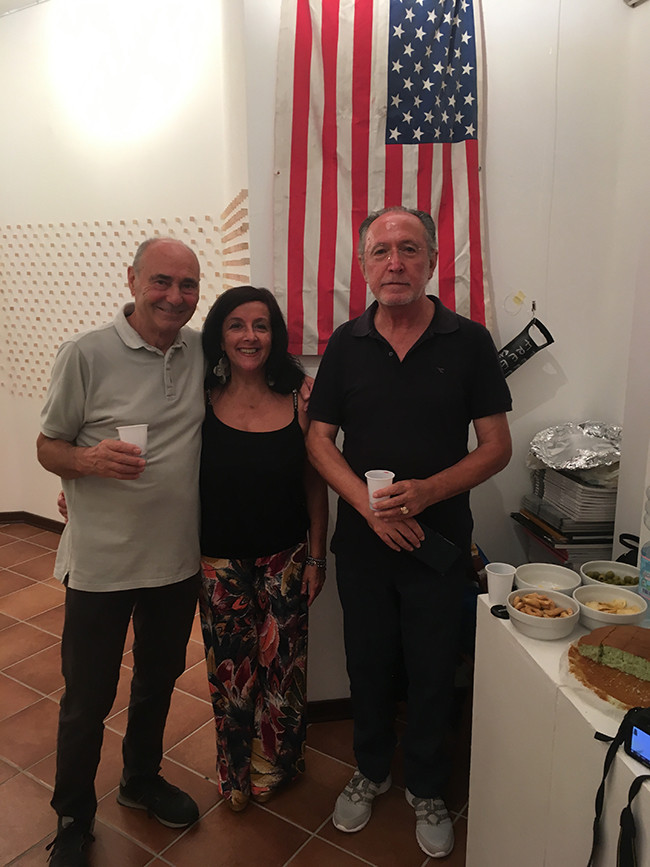 Rafael Innone, wife and Memmo Longobardi of DNA Contemporary Gallery, Maratea, Italy.