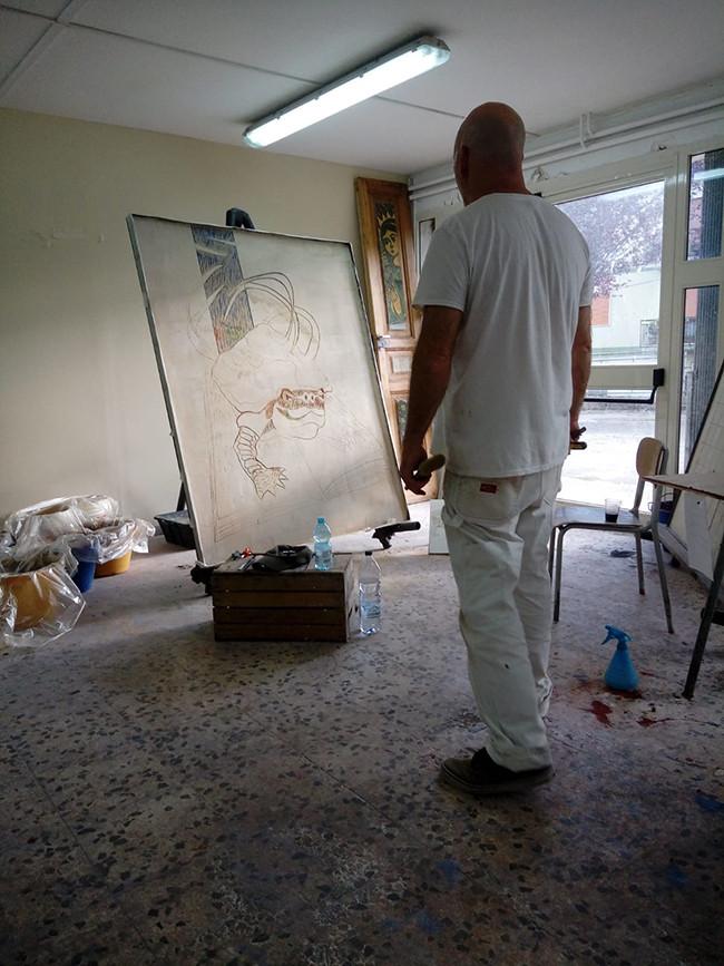 Edem, work in progress, Montemurro, Italy.