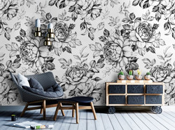 black-and-white-flower-wallpaper-mural-w