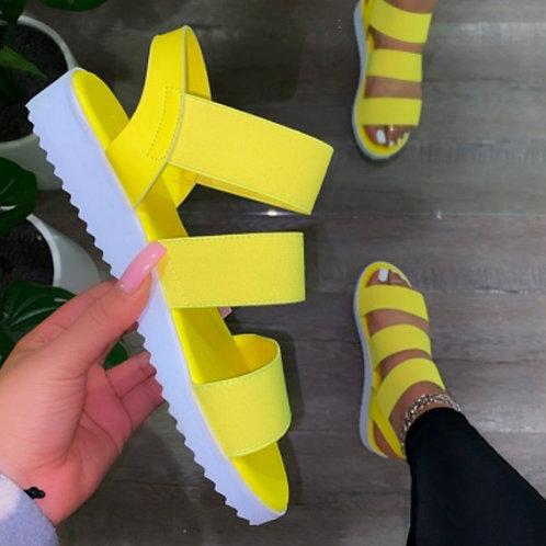 Pastel Yellow Sandals