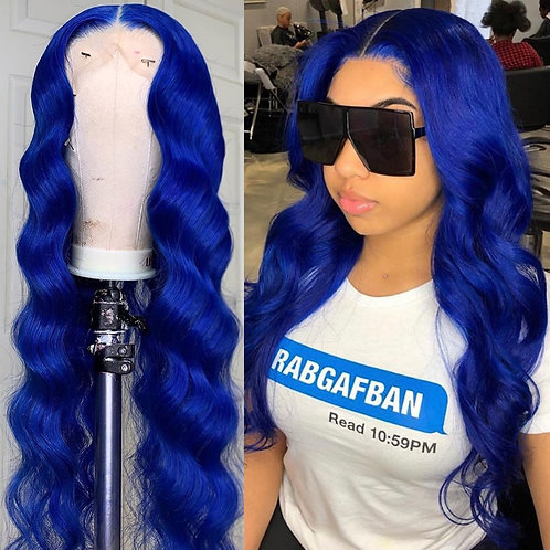 Transparent Lace 180 Density Body Wave Colored Human Hair Wig