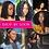 Thumbnail: Sapphire Short Pixie Curly Bob Wig T Part Human Hair Wig