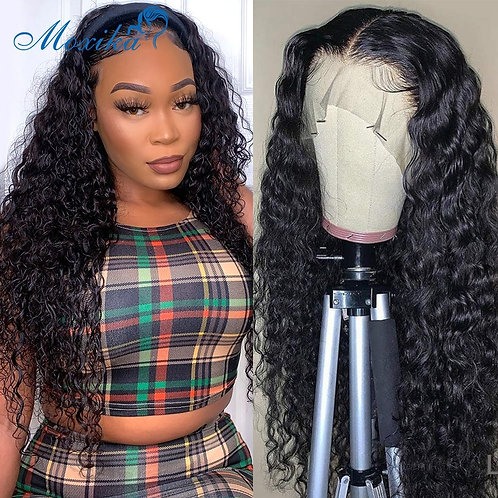 Water Wave  4x4 Lace Closure Wig Lace Frontal Wigs Waterwave Lace Front Wig