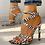 Thumbnail: Sexy Multi-Strap Crisscross Thin Heeled Sandals