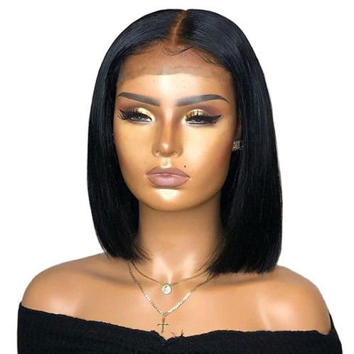 13x4 Straight Lace Front  Pre Plucked Bleached Knots Wigs 150 Remy Closure Wig