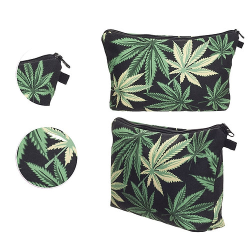 THC Leaf Cosmetic Bag