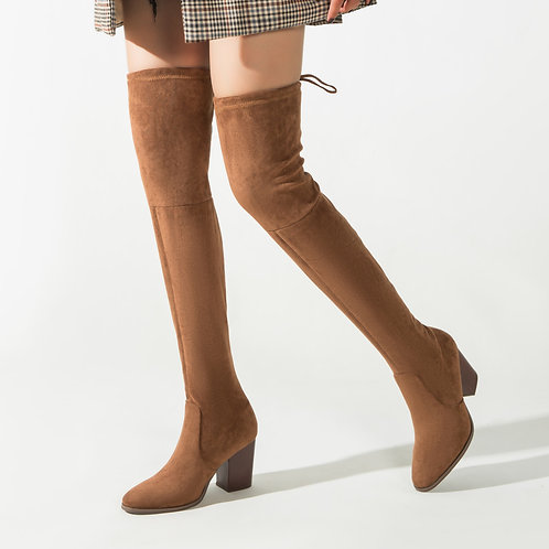 Over the Knee Boots Sexy Thigh High Boots Winter Heel Ladies Boots