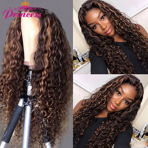 Princess Highlight Wig Water Wave Lace Front Human Hair Wig