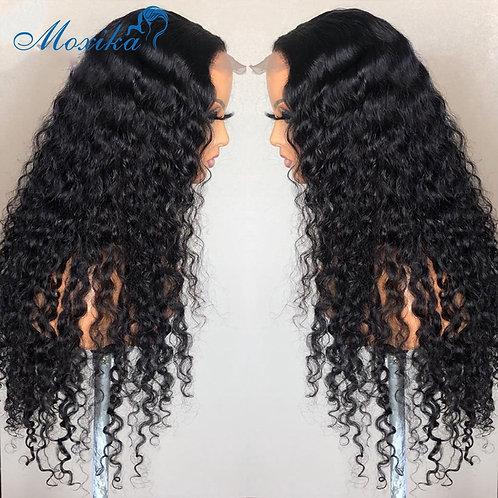 Deep Wave Glueless 4x4  13x4 13x6 Lace  Peruvian Hair Wig