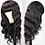 Thumbnail: Remy 30 Inch Wig Long Fringe Wig Peruvian No Lace Wig