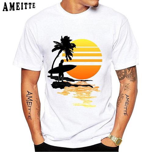 Short Sleeve Vintage Surfing Sunrise Classic T-Shirt