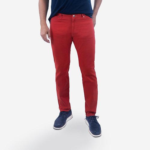 Crimson Red Traveler Cotton Twill Jean