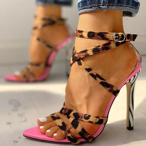 Sexy Multi-Strap Crisscross Thin Heeled Sandals