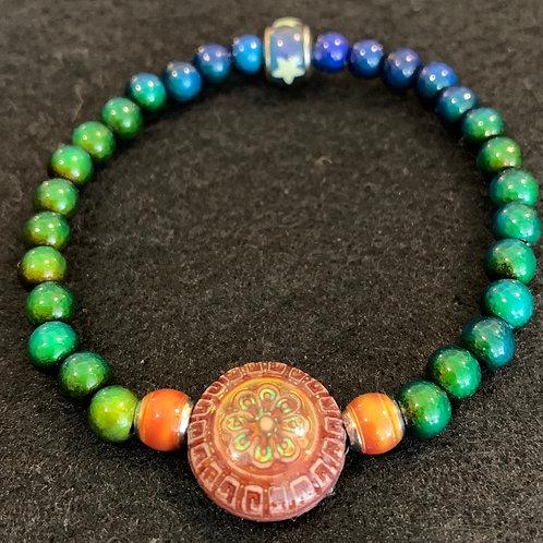 """Sun Blossom"" Mirage Bead Bracelet"