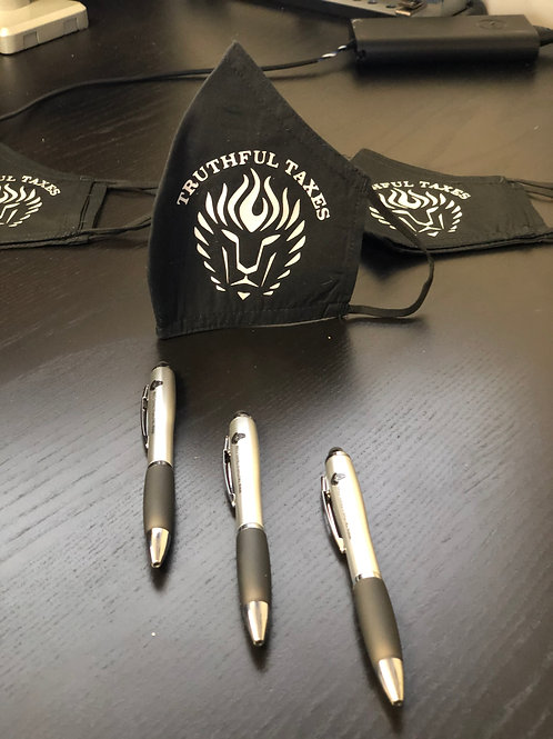 Face Mask and Company Stylus Pen