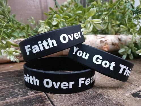 Faith Over Fear Wristband