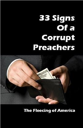 25 Signs of a Corrupt Preacher