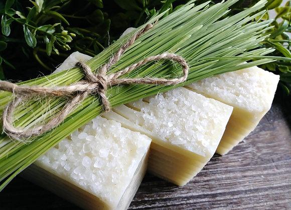 Wheatgrass & Lemongrass Salt Bar