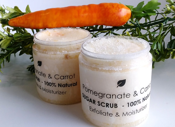 Carrot & Pomegranate Sugar Scrub