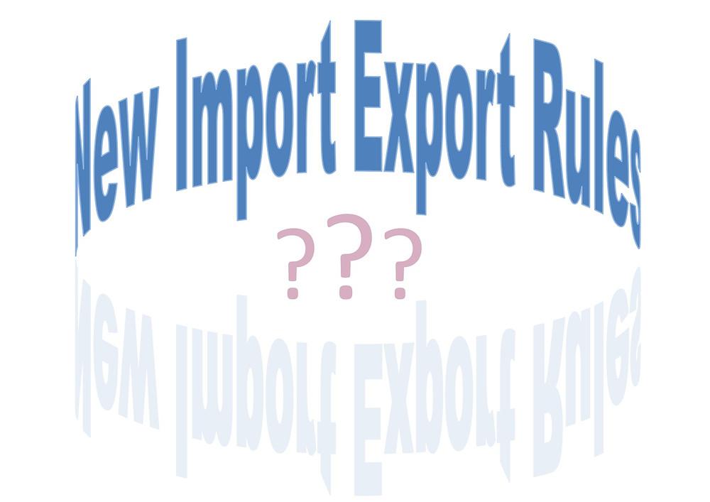 New Import Export Rules EU
