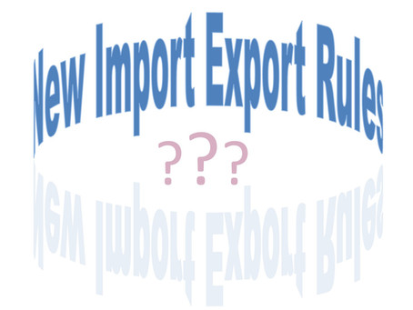 New Year - New import and export rules with the EU!