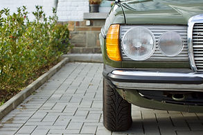 German youngtimer sedan of the seventies