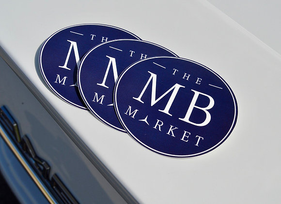 The MB Market Decal Value Pack (Three Round Navy Badges)