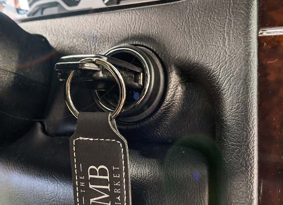 The MB Market Stitched Leather Key Ring