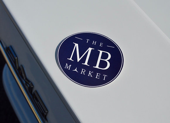 The MB Market Decal  (Round Navy Badge)