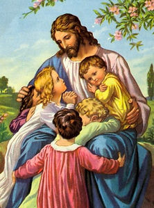 Illustration of Jesus embracing a group of children, our statement of faith
