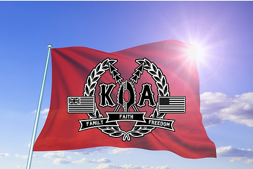 KOA Logo Flag in Limited Edition RED