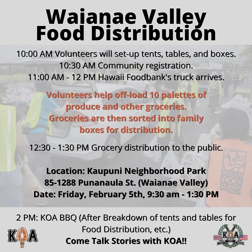 Waianae Food Distribution