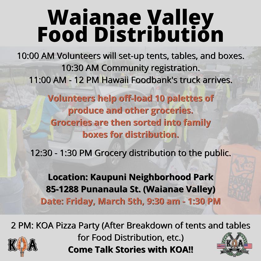 Waianae Food Distribution - March 2021
