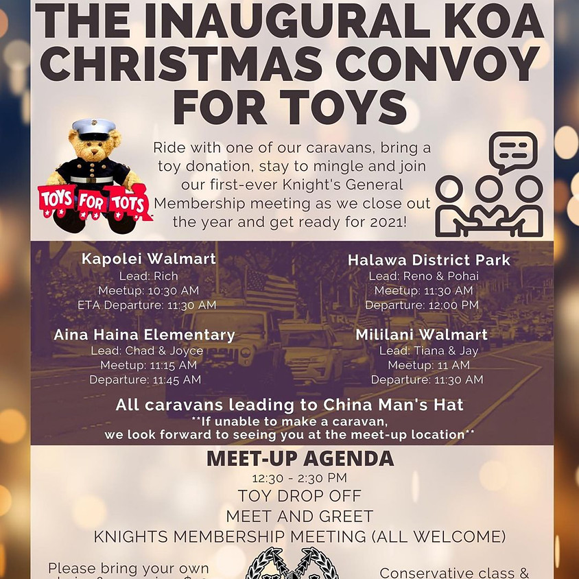 The Inaugural KOA Christmas Convoy for Toys!