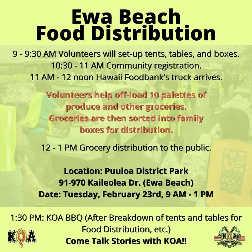 Ewa Beach Food Distribution - February 2021