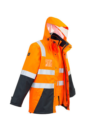 MENS HI VIS 4 IN 1 WATERPROOF JACKET   ZJ532