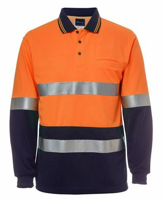 HI VIS L/S (D+N) TRADITIONAL POLO 6HVSL