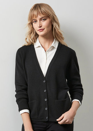LADIES WOOLMIX CARDIGAN   LC8008