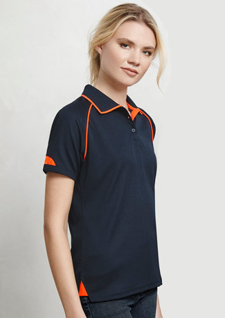 LADIES FUSION POLO   P29022