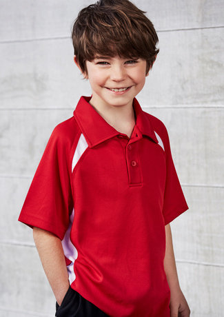 KIDS SPLICE POLO   P7700B