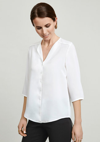 LILY LADIES LONGLINE BLOUSE   S015LT