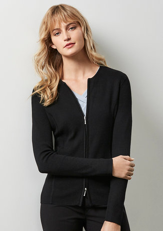 LADIES 2-WAY ZIP CARDIGAN   LC3505