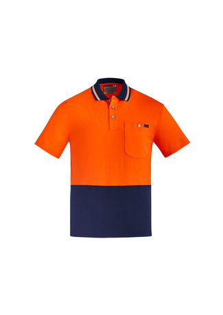 MENS HI VIS COTTON S/S POLO   ZH435