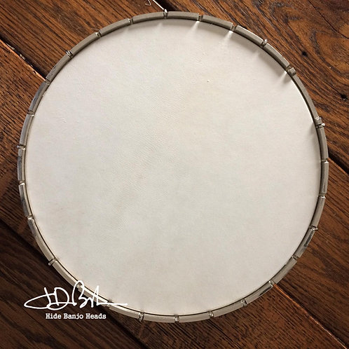 "WHITE ~ SPECIAL Select ~ goat skin pre-mouned head - 12"" size"