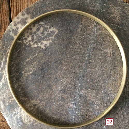 JEFF MENZIES Jamaican Natural Goat hide - premounted - your choice of rim size